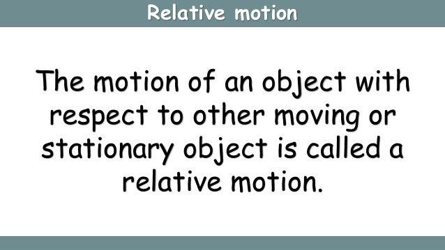 Relative motion in 1D & 2D Slide 2