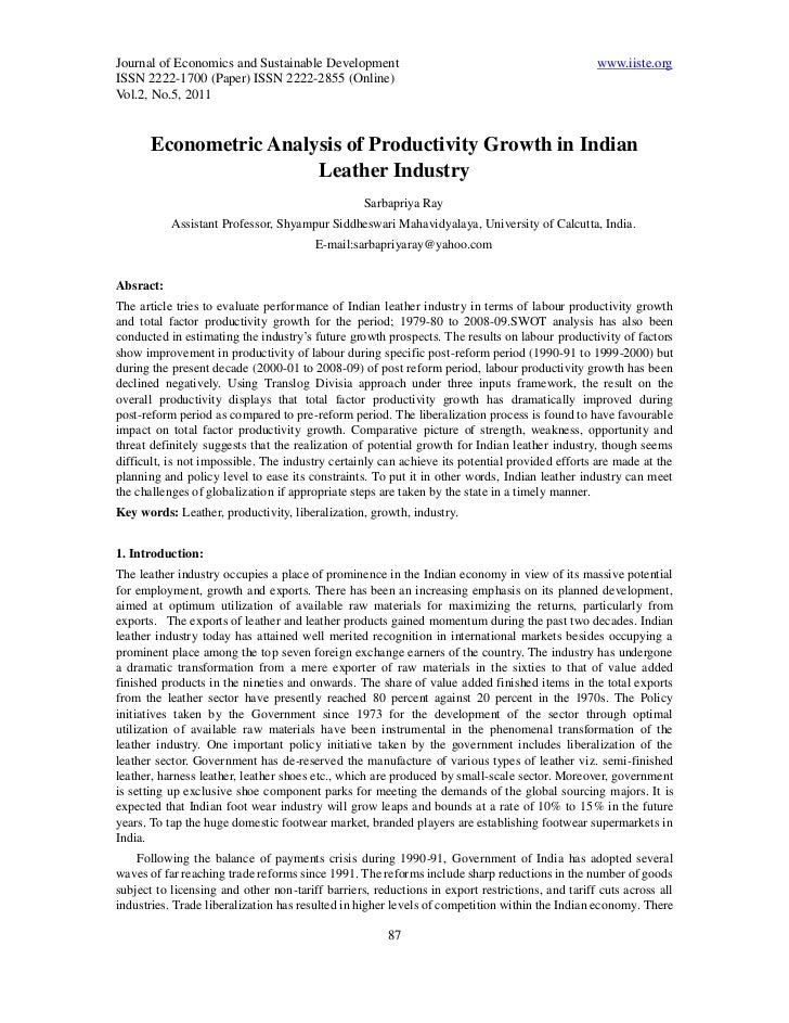 Journal of Economics and Sustainable Development                                                 www.iiste.orgISSN 2222-17...
