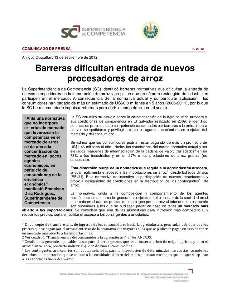 COMUNICADO DE PRENSA                                                                                       C. 23-12Antiguo...