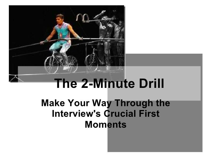 9. the 2 minute drill