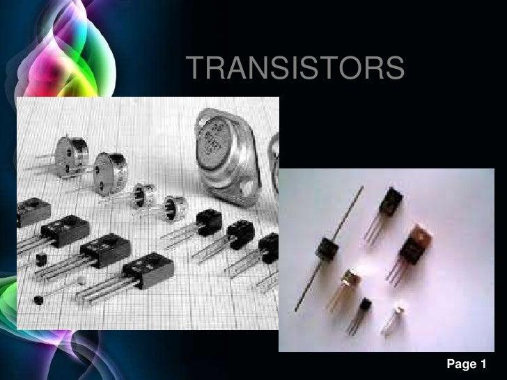 TRANSISTORS<br />
