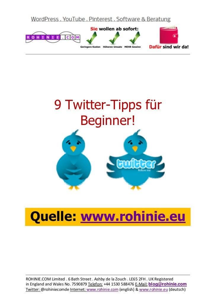 9 Twitter-Tipp...