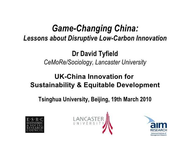 David Tyfield: Game-changing Innovation in China