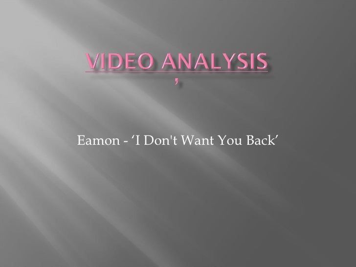 Eamon - 'I Don't Want You Back'
