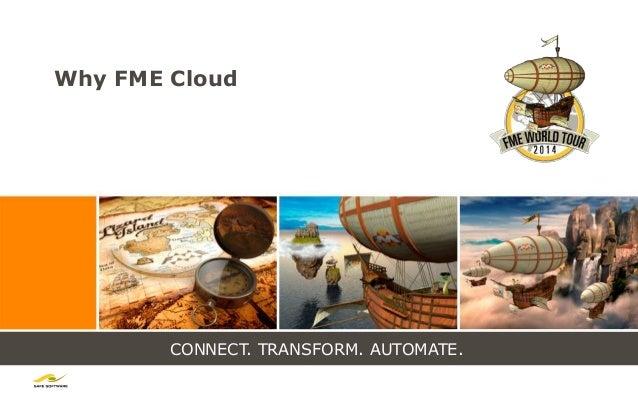 CONNECT. TRANSFORM. AUTOMATE. Why FME Cloud