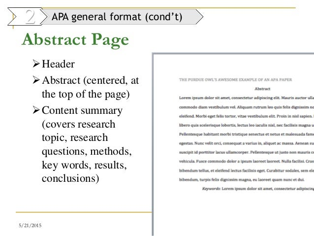 9 writing report dr mai 2014 for Apa abstract page template
