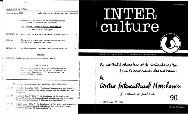 90 le centre interculturel monchanin. cahier ii- orientation. vachon, robert. (document à télécharger en format pdf, 1,...