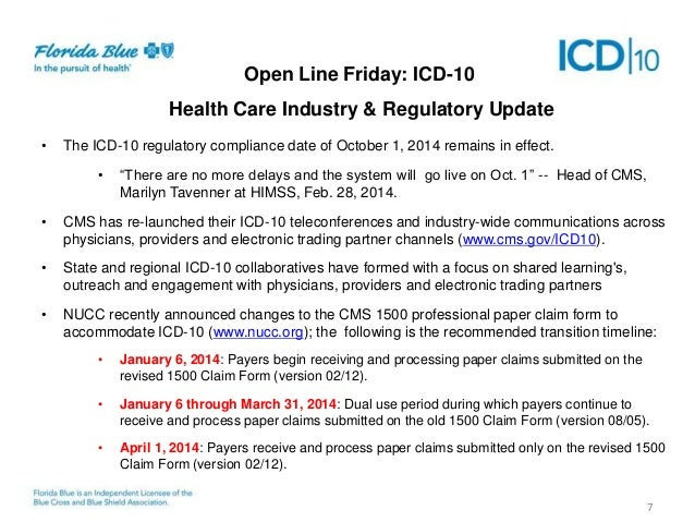 ICD-10 Open Line Friday Presentation March 21, 2014