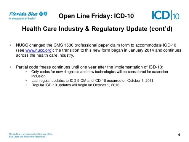 ICD-10 Open Line Friday 9/18/2014 - Payer Update