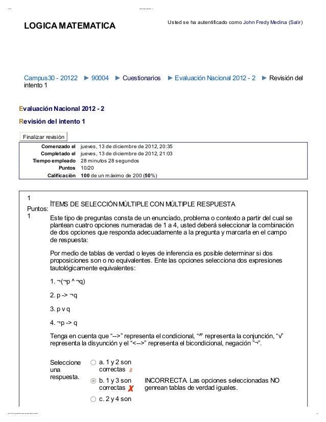 19/ 12/ 12 90004: Evaluación Nacional 2012 - 21/ 14208. 39. 106. 109/ cam pus3020122/ m od/ quiz/ r eview. php?q=765&at t ...