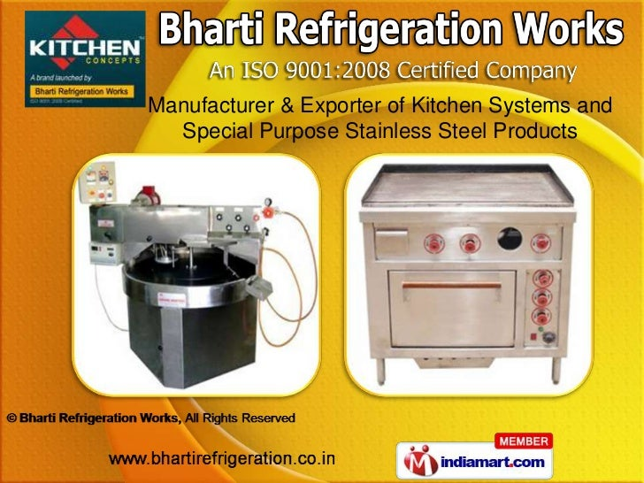 Manufacturer & Exporter of Kitchen Systems and  Special Purpose Stainless Steel Products