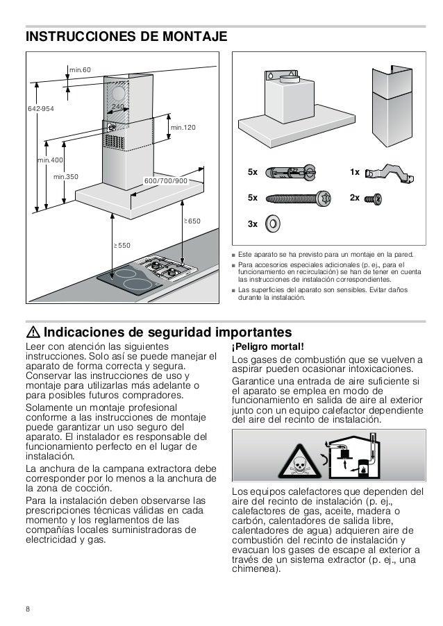 8 INSTRUCCIONES DE MONTAJE Manual de montaje ■ Este aparato se ha previsto para un montaje en la pared. ■ Para accesorios ...
