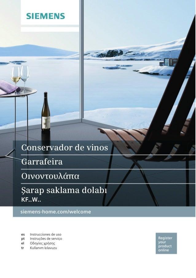 Conservador de vinos Garrafeira Οινοντουλάπα Şarap saklama dolabı KF..W..