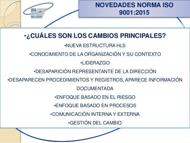 Nueva Norma Iso 9001 2015