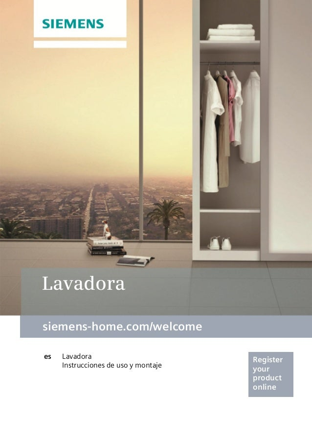 siemens-home.com/welcome Register your product online Lavadora