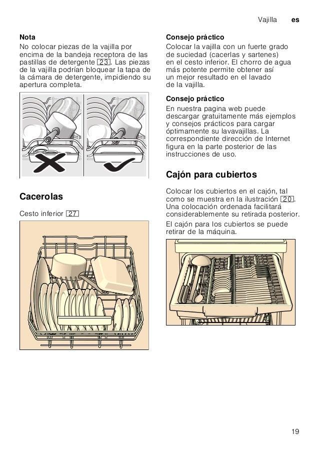 es Vajilla 20 SoportesdeplatosabatiblesSoportes de platos abatibles * * según el modelo concreto Los ganchos del cesto son...