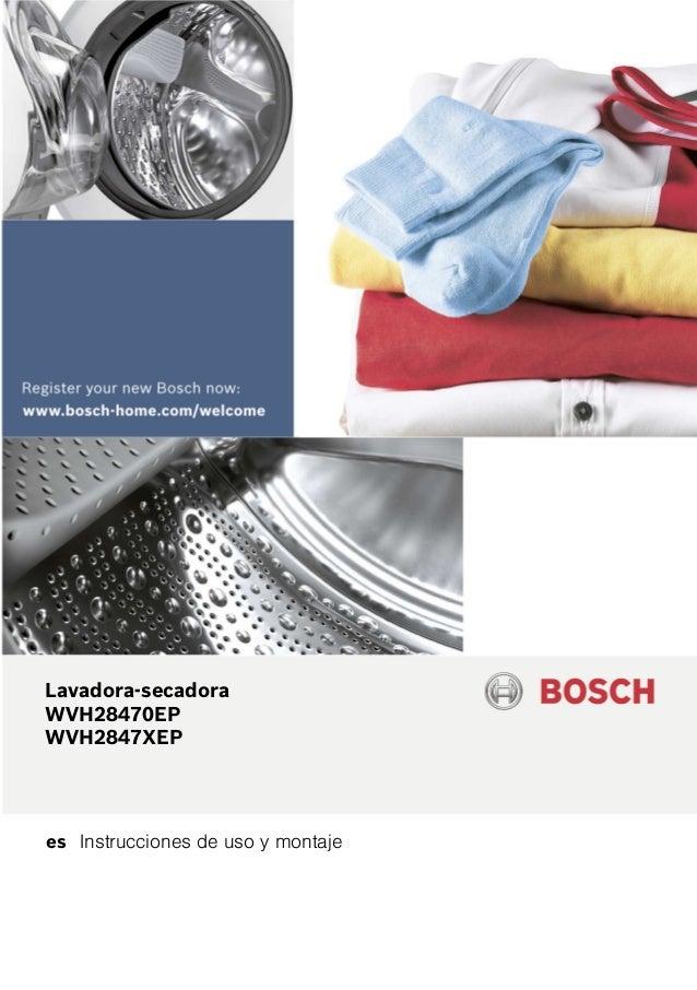 es Instrucciones de uso y montaje Lavadora-secadora WVH28470EP WVH2847XEP