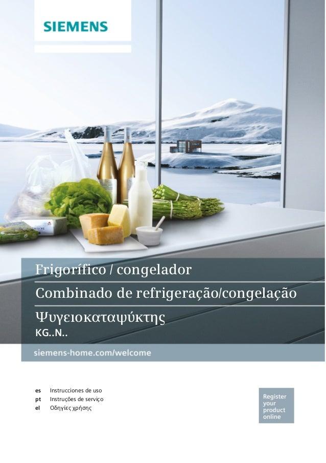 es pt el Frigorífico / congelador Combinado de refrigeração/congelação Ψυγειοκαταψύκτης KG..N..