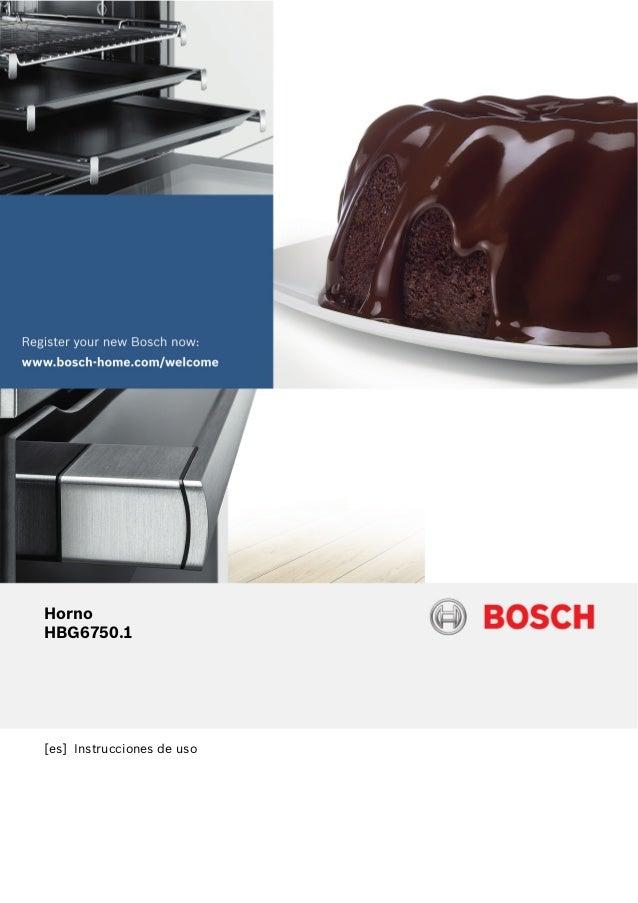 [es] Instrucciones de uso Horno HBG6750.1