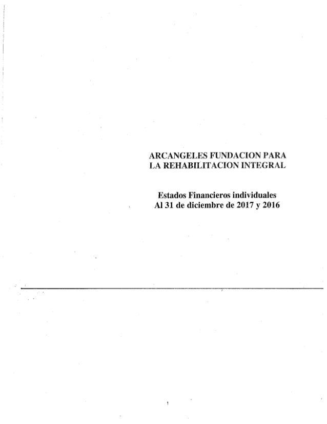 Estados financieros Arcángeles Fundación 2017
