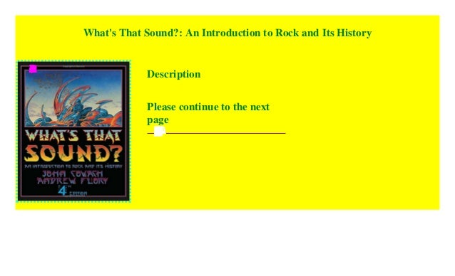 What/'s That Sound An Introduction to Rock and Its History 2018, Paperback