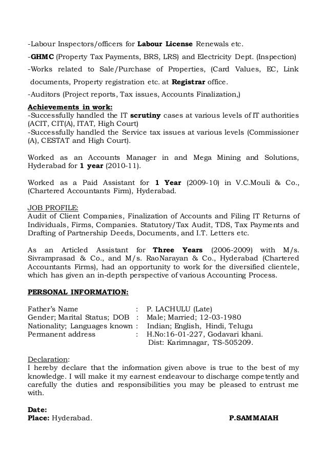 sammaiah resume accounts finance