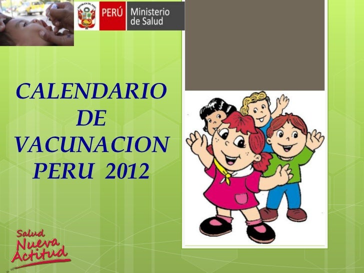 CALENDARIO    DEVACUNACION PERU 2012