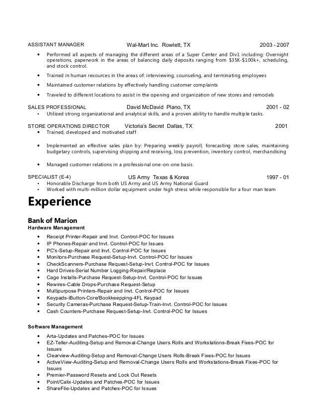 Unusual Walmart Loss Prevention Resume Gallery - Resume Ideas ...