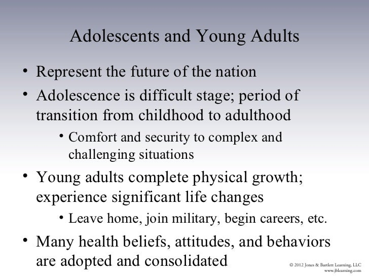 An overview of the most challenging and complex transition in life adolescence