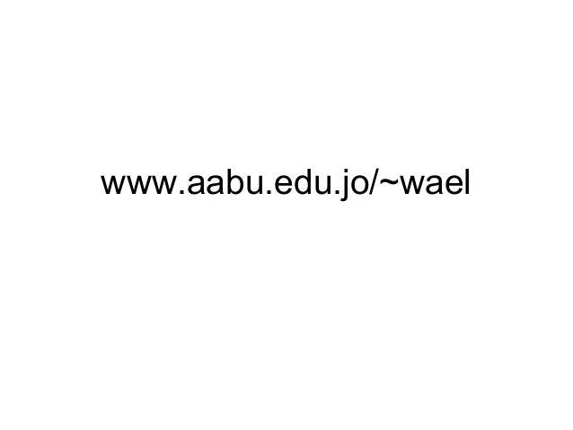 www.aabu.edu.jo/~wael