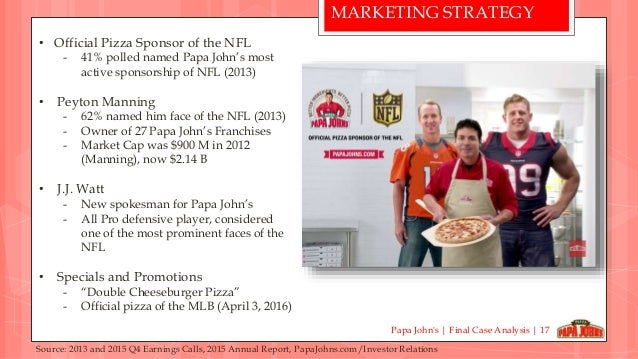 Papa John's International, Inc. - Strategy, SWOT and Corporate Finance Report