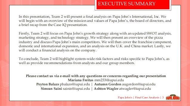 papa johns mission statement