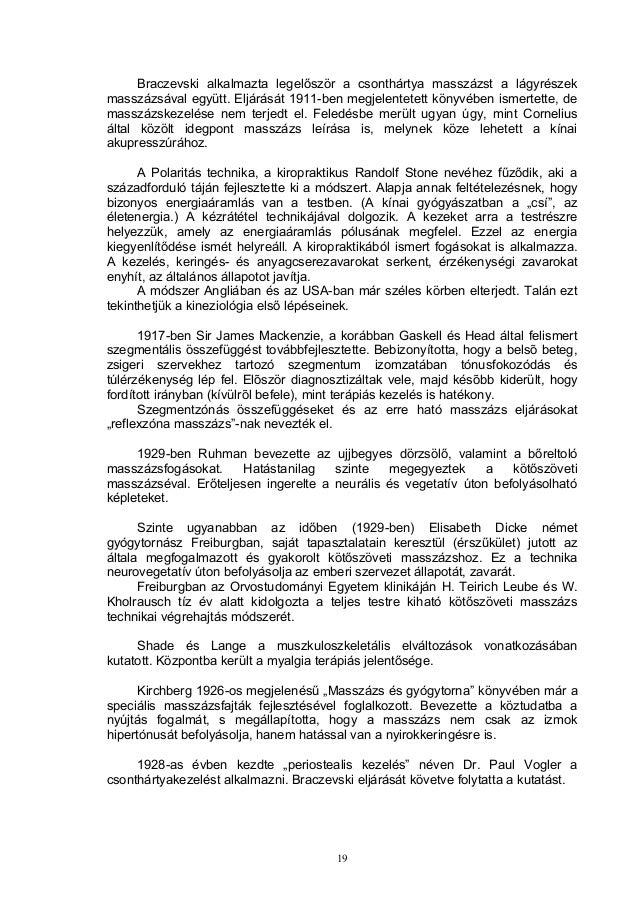 Braczevski alkalmazta legelőször a csonthártya masszázst a lágyrészek masszázsával együtt. Eljárását 1911-ben megjelentete...