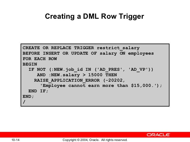 Oracle trigger updating column