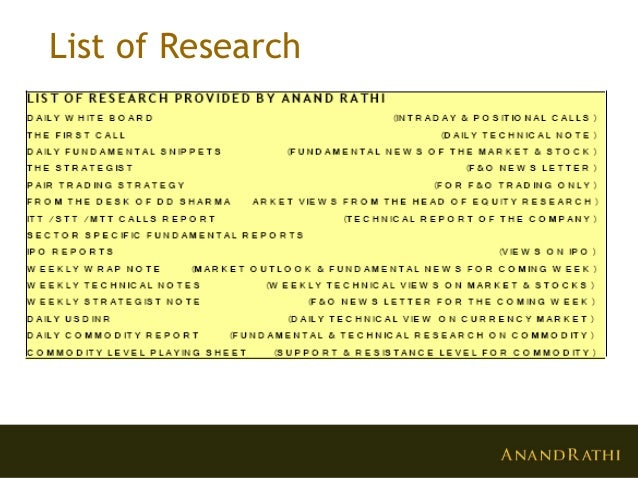 anand rathi research Privco is the source for business and financial research on major privately-held companies, including private market m&a, venture capital, and private equity deals.
