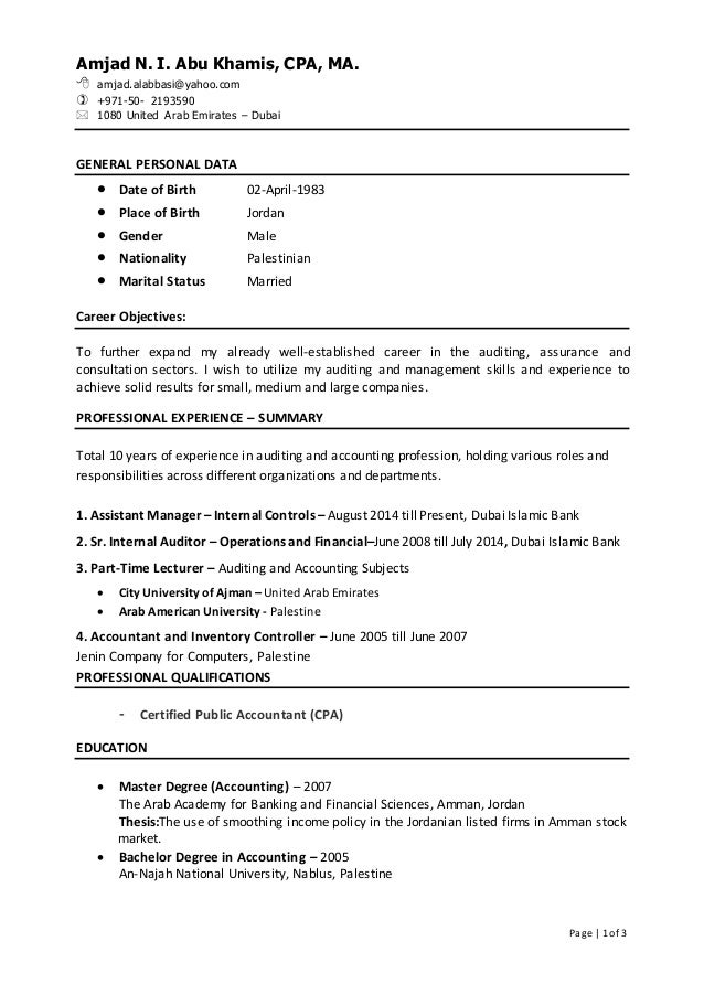 Awesome Part Time Resume In Dubai Accounting Photos - Best Resume ...
