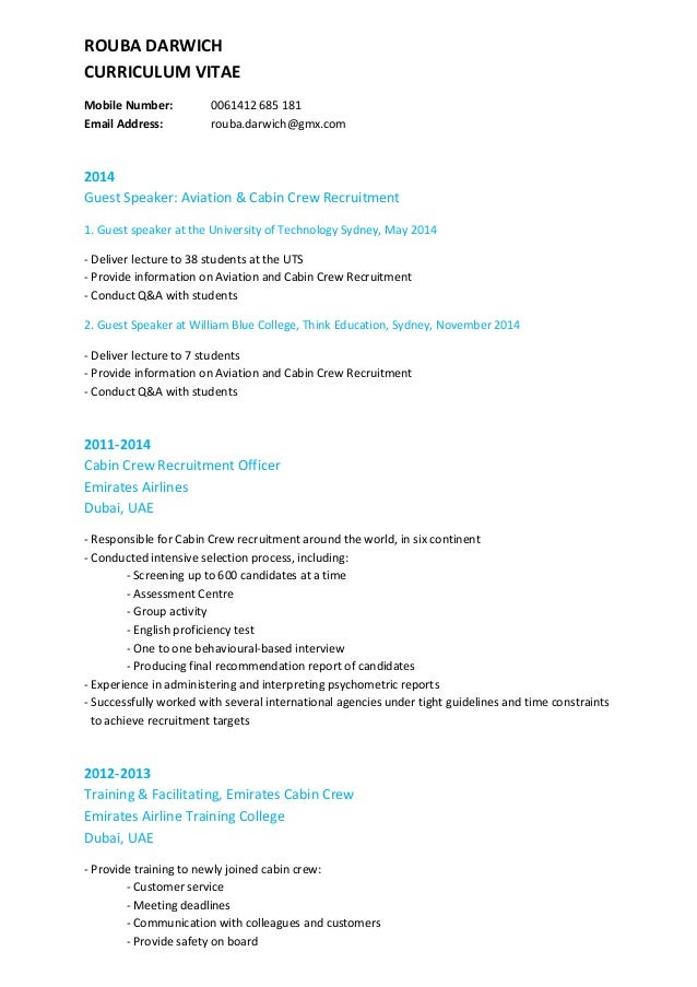 Rouba Darwich 2014 Updated Cv
