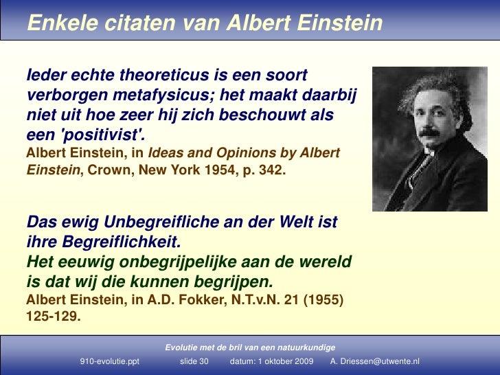 Citaten Van Albert Einstein : Evolutie en natuurkunde