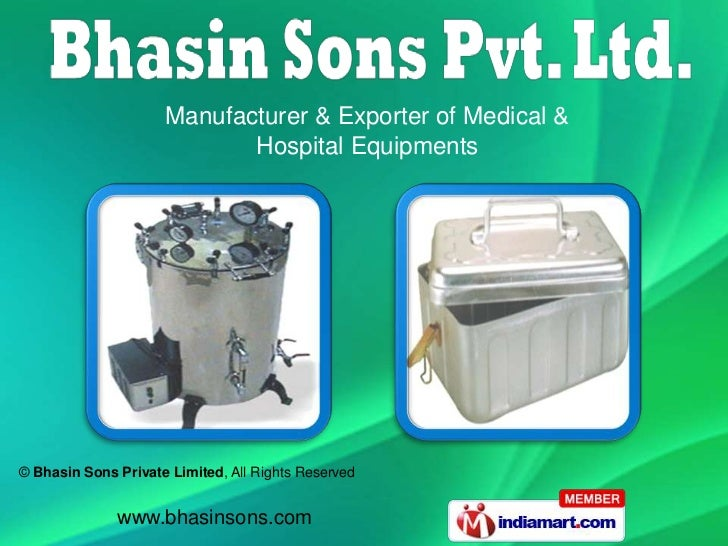 Manufacturer & Exporter of Medical &                            Hospital Equipments© Bhasin Sons Private Limited, All Righ...
