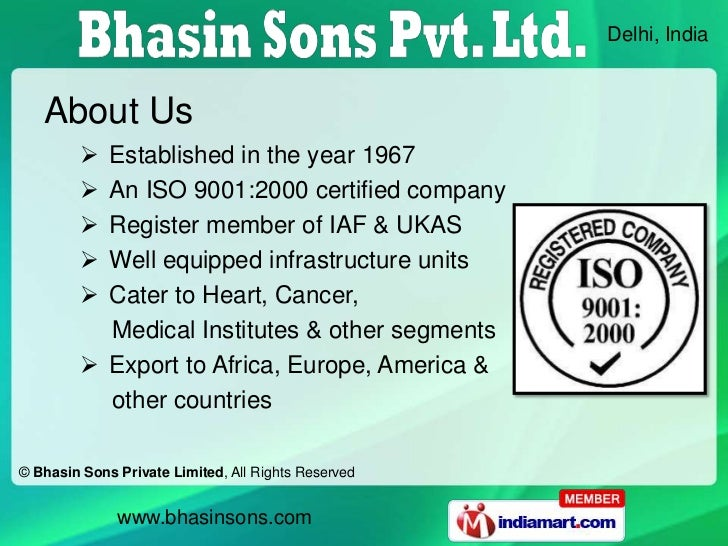 Delhi, India   About Us          Established in the year 1967          An ISO 9001:2000 certified company          Regi...