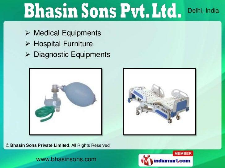 Delhi, India          Medical Equipments          Hospital Furniture          Diagnostic Equipments© Bhasin Sons Privat...