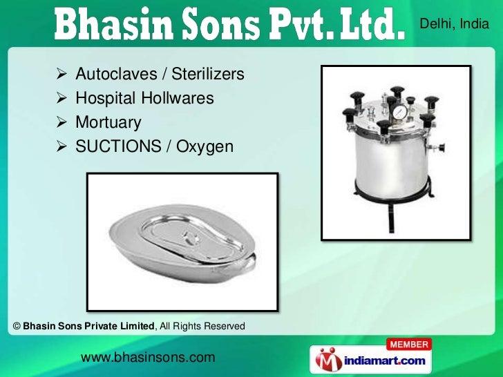 Delhi, India            Autoclaves / Sterilizers            Hospital Hollwares            Mortuary            SUCTIONS...