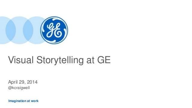 Imagination at work Visual Storytelling at GE April 29, 2014 @kcraigwell