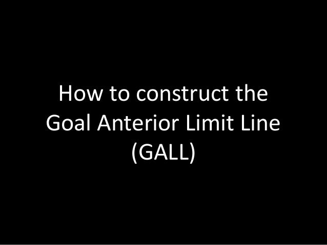 How to construct theGoal Anterior Limit Line(GALL)