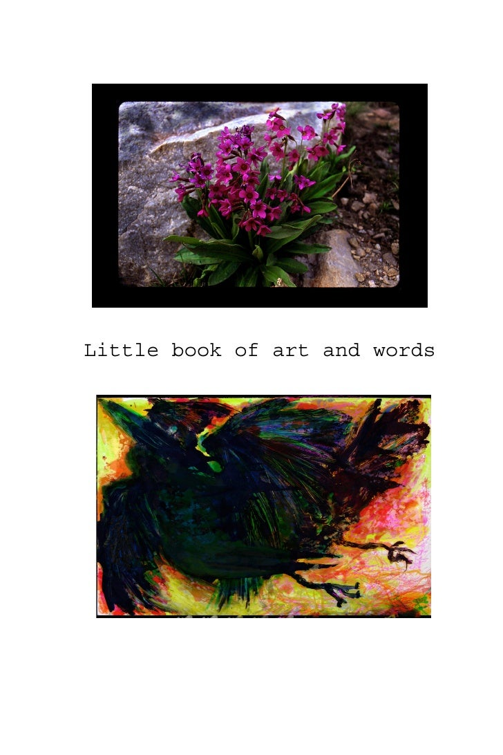 Little book of art and words