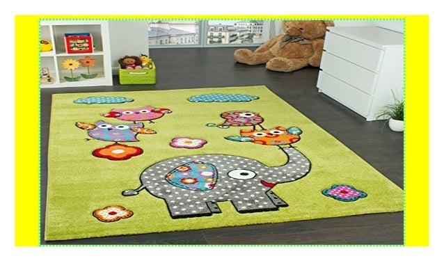 Paco Home Kinderzimmer Teppich Niedliche Bunte Tierwelt Eule ...