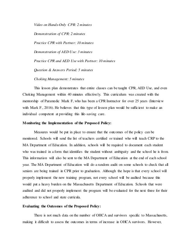 Cpr Policy Proposal