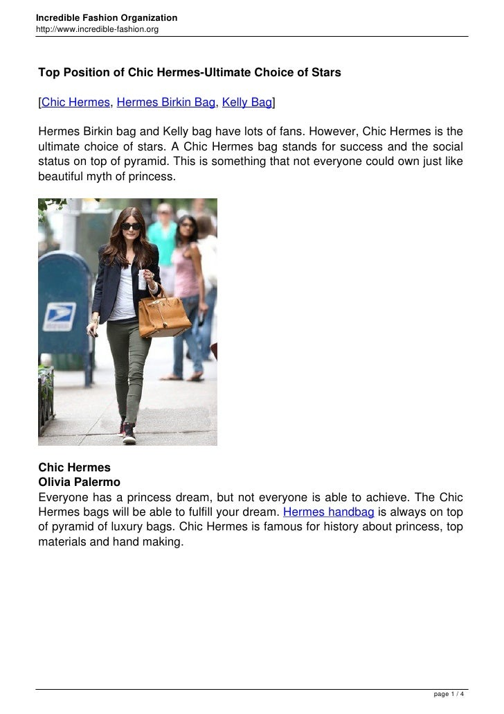 Incredible Fashion Organizationhttp://www.incredible-fashion.orgTop Position of Chic Hermes-Ultimate Choice of Stars[Chic ...