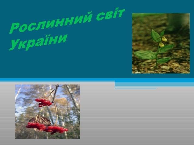 • Вивчити загальну характеристику рослинного світу України • Ознайомитись : а) з рослинністю лісів Полісся, Кримських та К...