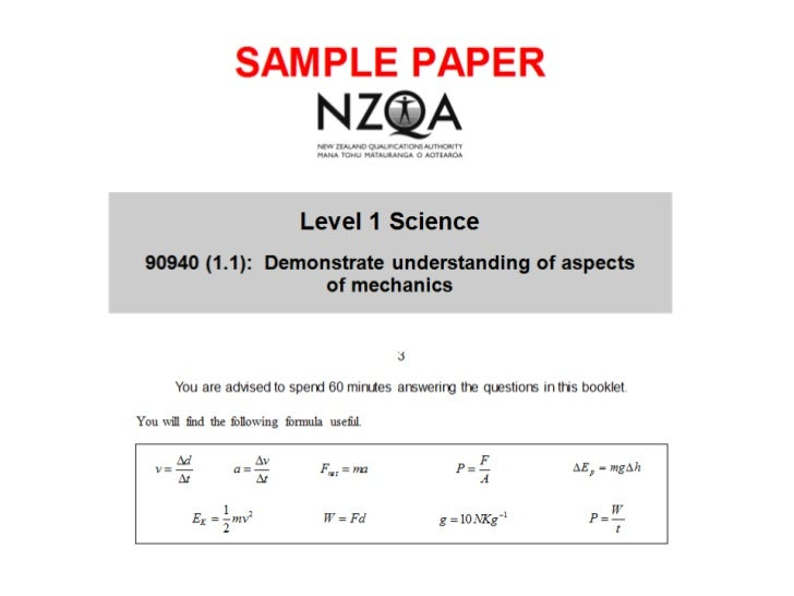 90940 demonstrate understanding of mechanics sample paper 2010